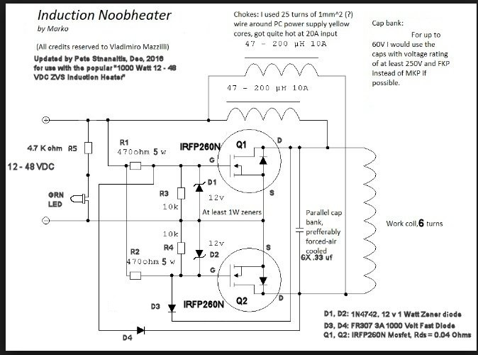 1000 watt zvs induction heater notes