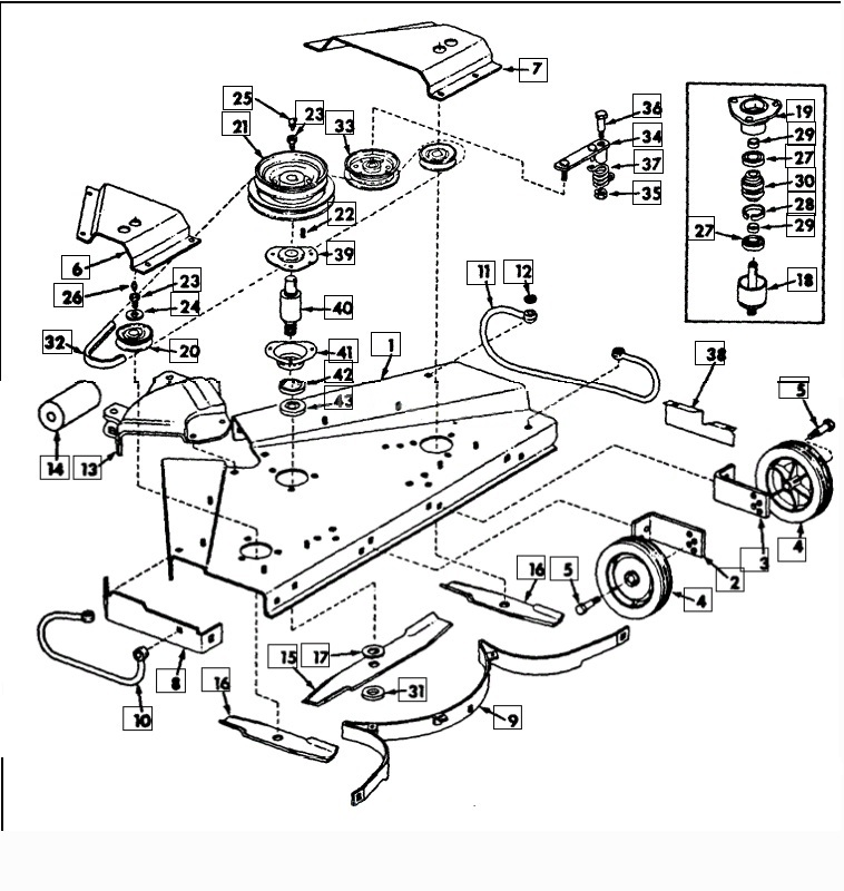 cub cadet exploded parts diagram